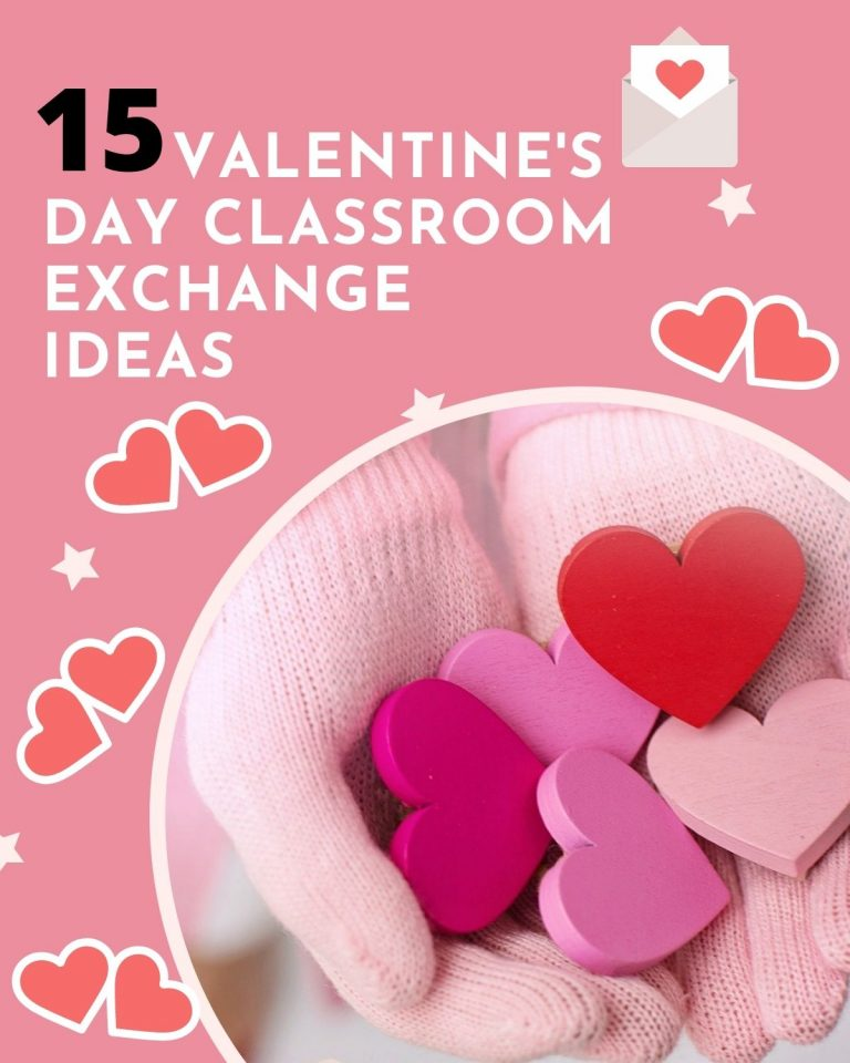 Image of a poster with white text and hand holding cut out hearts.