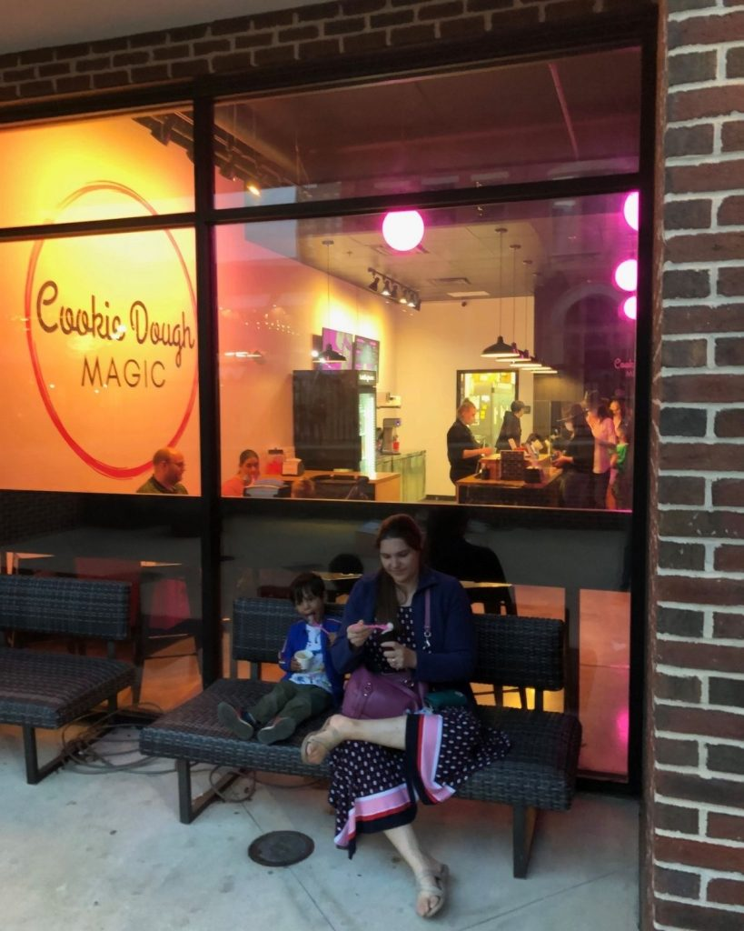 Eating cookie dough is a fun things to do in huntsville with kids