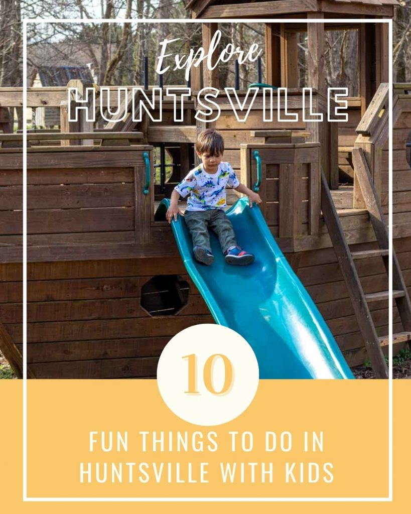 Cover image for fun things to do in huntsville with kids post.