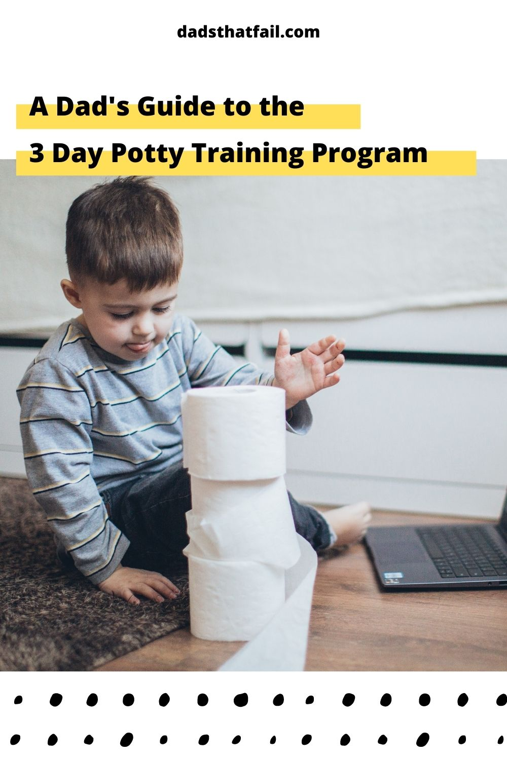 Cover image of toddler playing with toilet paper.