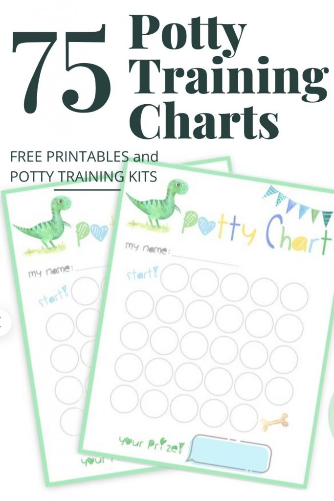 cover image of free printable potty training charts