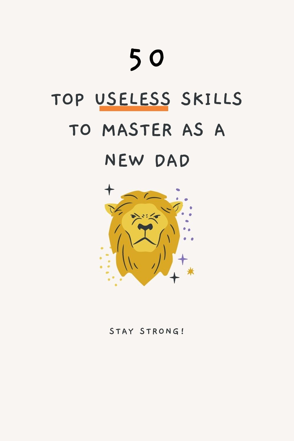 Cover image for post on skills to master as a new dad